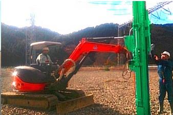H steel piling machine