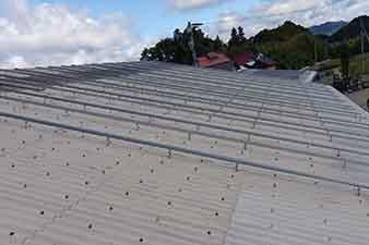 折板屋根架台 福島県柳川町 103.3kw